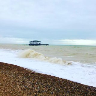 Sea was rough today along #brightonseafront  It's hard to imagine that just a few miles away on the other side of this stretch of water, there are people so desperate to get to the country that they get in little rubber dinghies to attempt to cross this.   🌊 🌧 🌊  #themadwomanintheattic #girlswhotravelsolo #roughseas #brighton