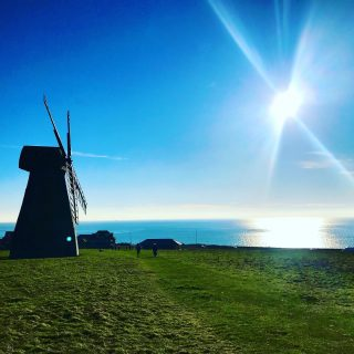 Really great light today, though bitterly cold.  I realise this is not the most inspiring photo ever but choose is limited. I've taken to riding the bus just to get to a slightly different view for my daily walk.  ☀️ ☀️ ☀️  #rottingdeanwindmill #brighton #themadwomanintheattic