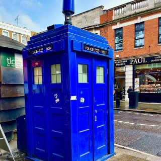 With the fashion for all things retro, this replica police box has appeared next to #earlscourtstation in London. As someone who does vaguely remember the original police boxes I'm pretty sure they were never this big.  #doctorwho #tardis #policebox  #themadwomanintheattic  ##thisiondon #retrolondon